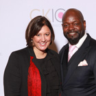 Darcy Juarez with the NFLs' Leading Rusher Emmitt Smith